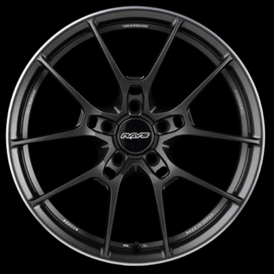 [Set of 4] RAYS VOLKRACING G025 19x8.0J +38 5x114.3 Matte Gunblack
