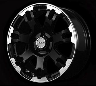 [Individually] RAYS DAYTONA FDX F7 WHEELS 17x7.0J +40 5x114.3 Black/Rim Diamond Cut