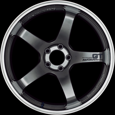 [Set of 4] YOKOHAMA ADVAN Racing GT 19x9.0J +45 5x114.3 MACHINING & RACING HYPER BLACK