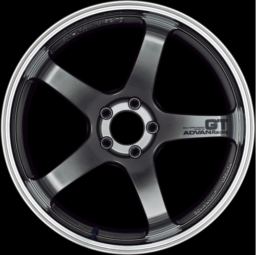 [Set of 4] YOKOHAMA ADVAN Racing GT 19x10.5J +25 5x114.3 MACHINING & RACING HYPER BLACK
