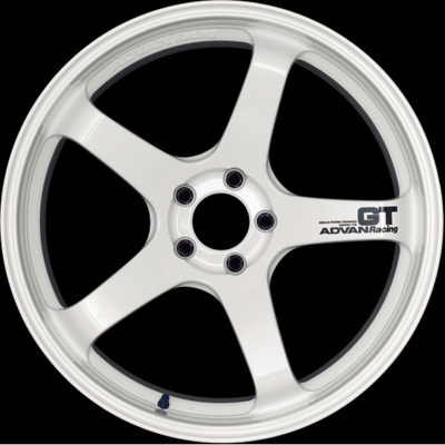 [Set of 4] YOKOHAMA ADVAN Racing GT 19x10.5J +15 5x114.3 RACING WHITE