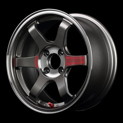 [Set of 4] RAYS VOLKRACING TE37 SONIC SL 15x6.5J +35 4x100 Pressed Graphite
