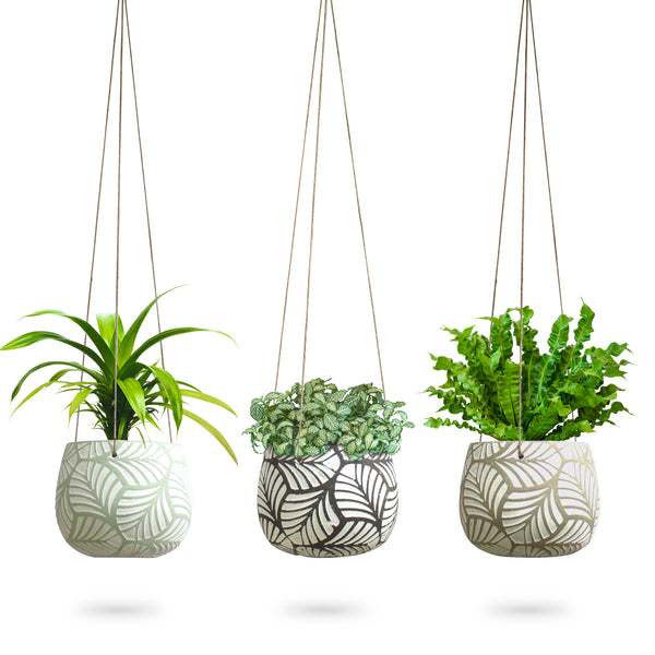 Concrete Leaf Hanging Planter