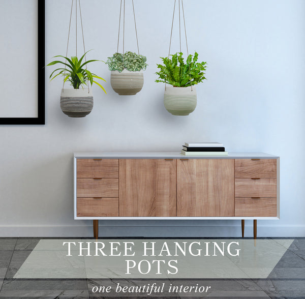 Concrete Line Hanging Planter
