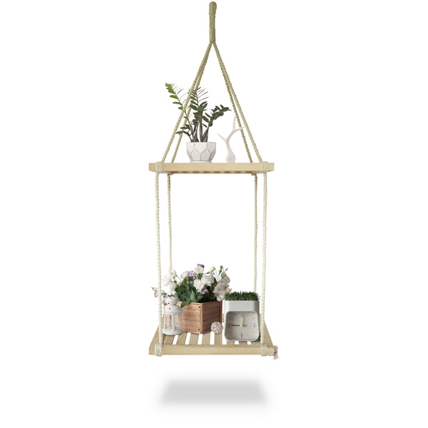 Two-level Macrame Shelf