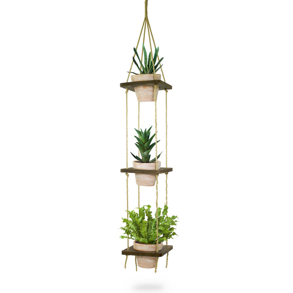 Hanging Planter with Terra Cotta Pots