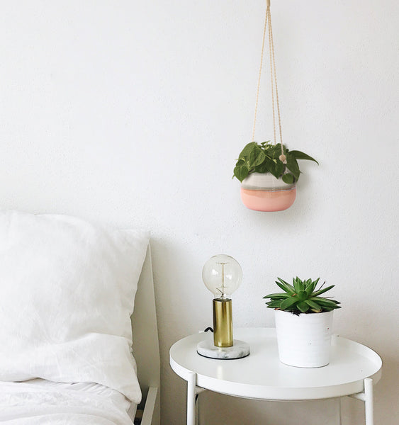 Ceramic Hanging Planter Pink Horizon