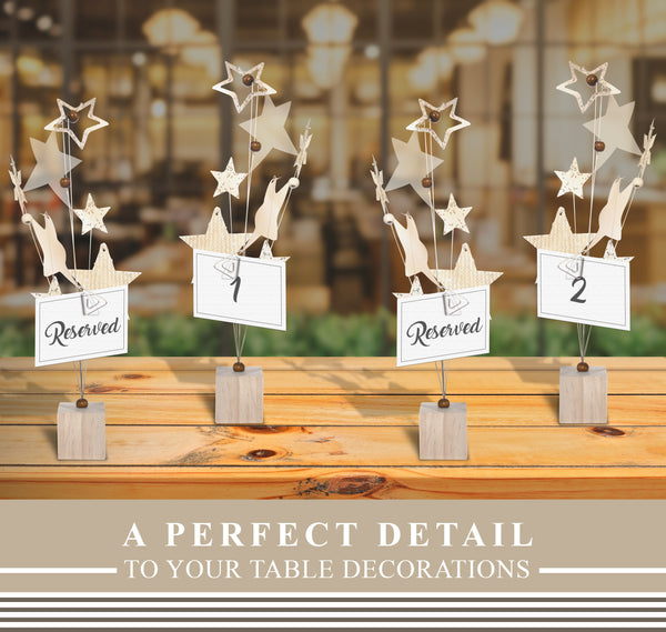 Gold Star Photo Table Number Holder (6 Pack)