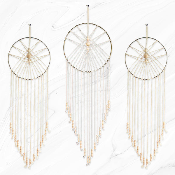 Macrame Wall Hanging Dream Catchers (Sun)