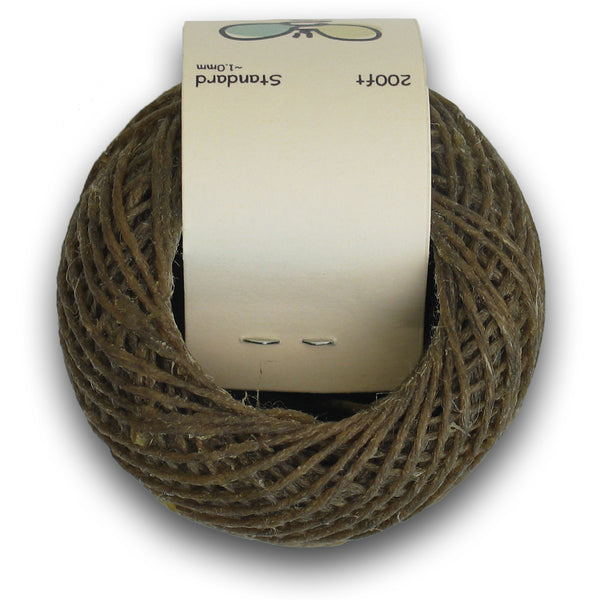 Standard 1mm Organic Hemp Wick - Beeswax Coated (200ft)