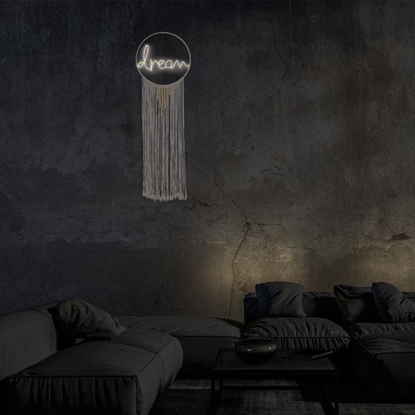 LED Light Up Macrame Wall Hanging Dream Catcher (Dream)