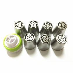 Pastry Decorating Tip Set - 7 Russian Tulip Icing Piping Nozzles