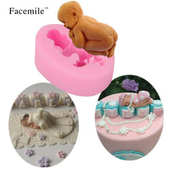 3D Silicone Mold Sleeping Baby Cake Decorating Tool