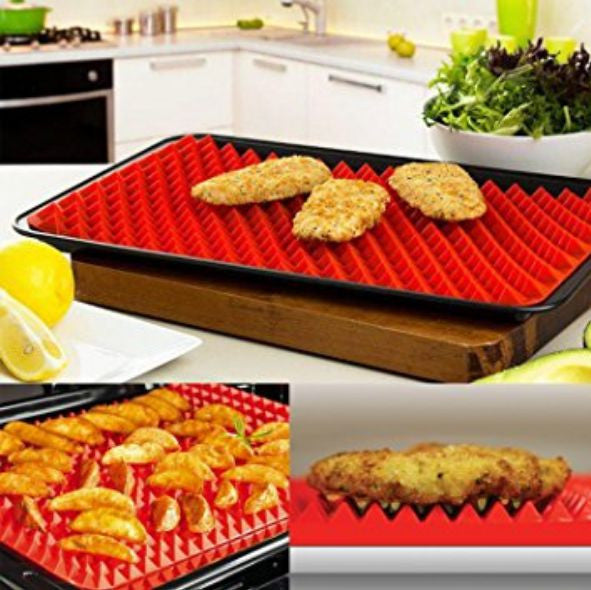 1 Non-Sticking Silicone Pyramid Baking Mat