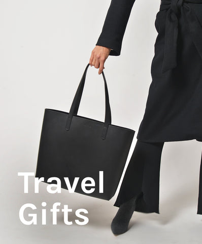 travel gifts, leather bag, the stowe, primary new york