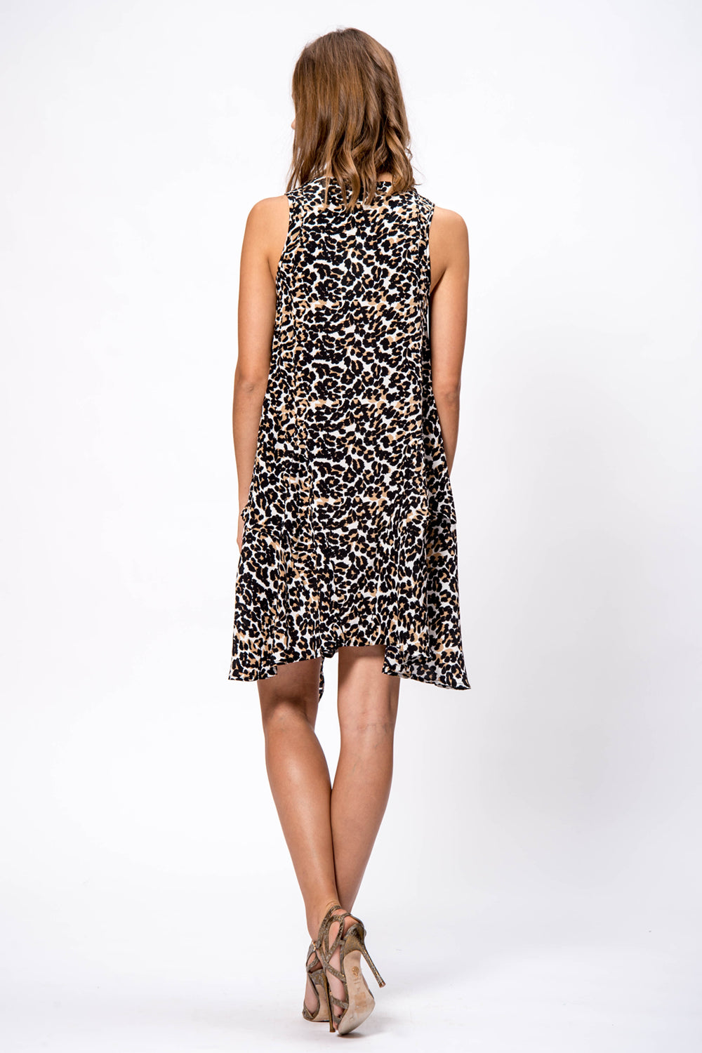 Silk Print Tie Dress