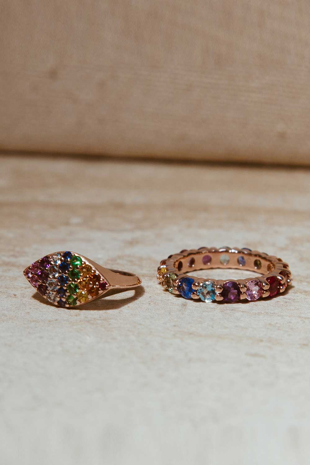 Carbon & Hyde Rainbow Eternity Band