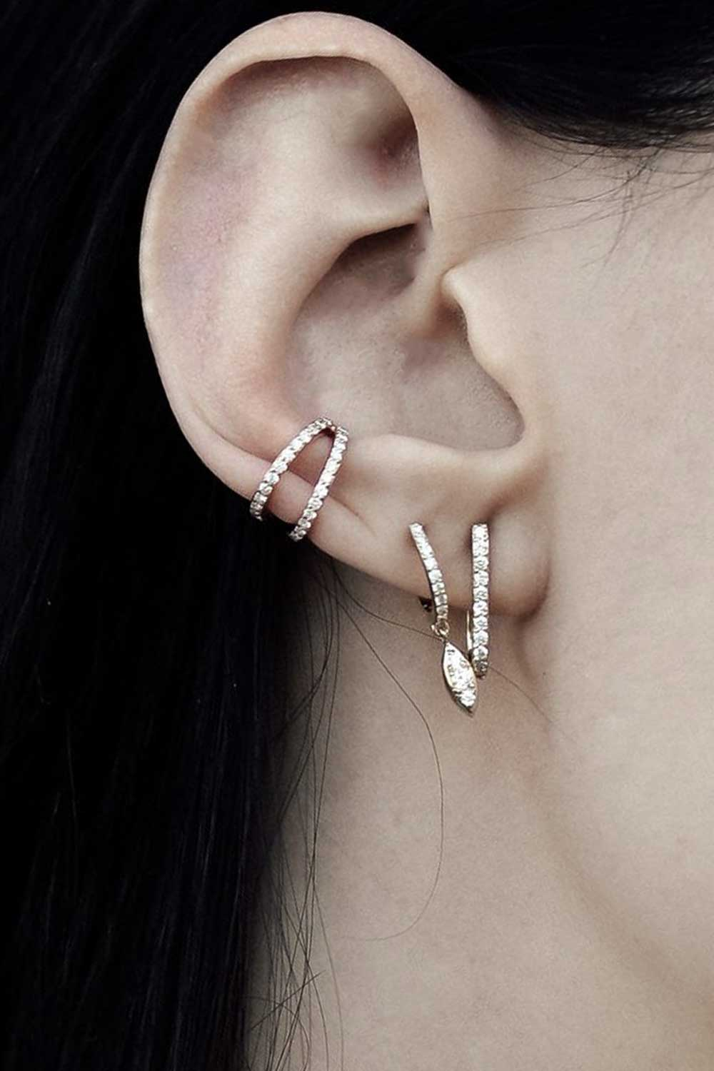 Carbon & Hyde Split Cuff Earring