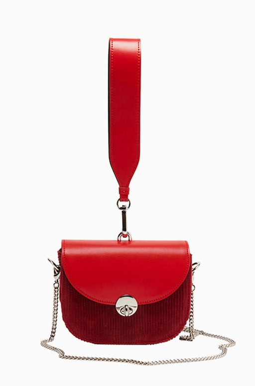 Mini Saddle Bag Red Corduroy