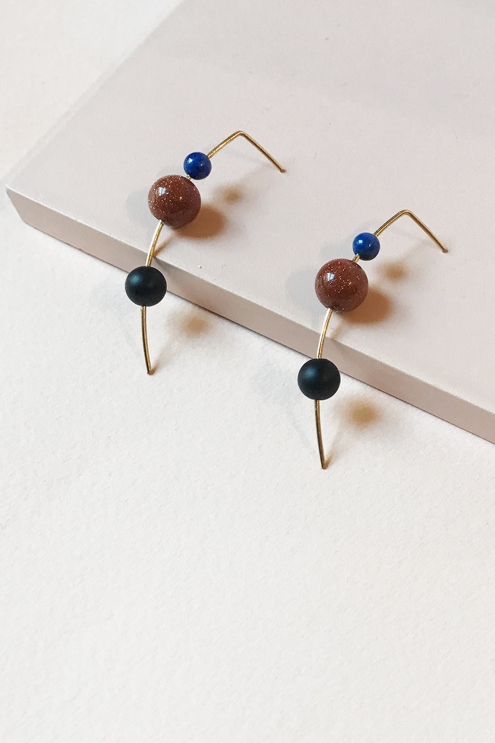 Primary MAU Orion Drop Earrings Lapis