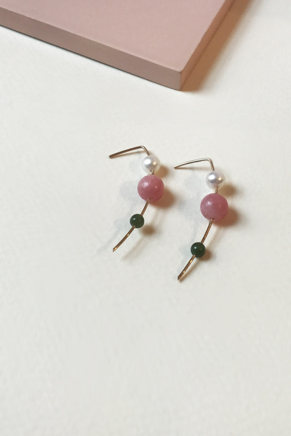 Primary MAU Orion Drop Earrings Rhodo