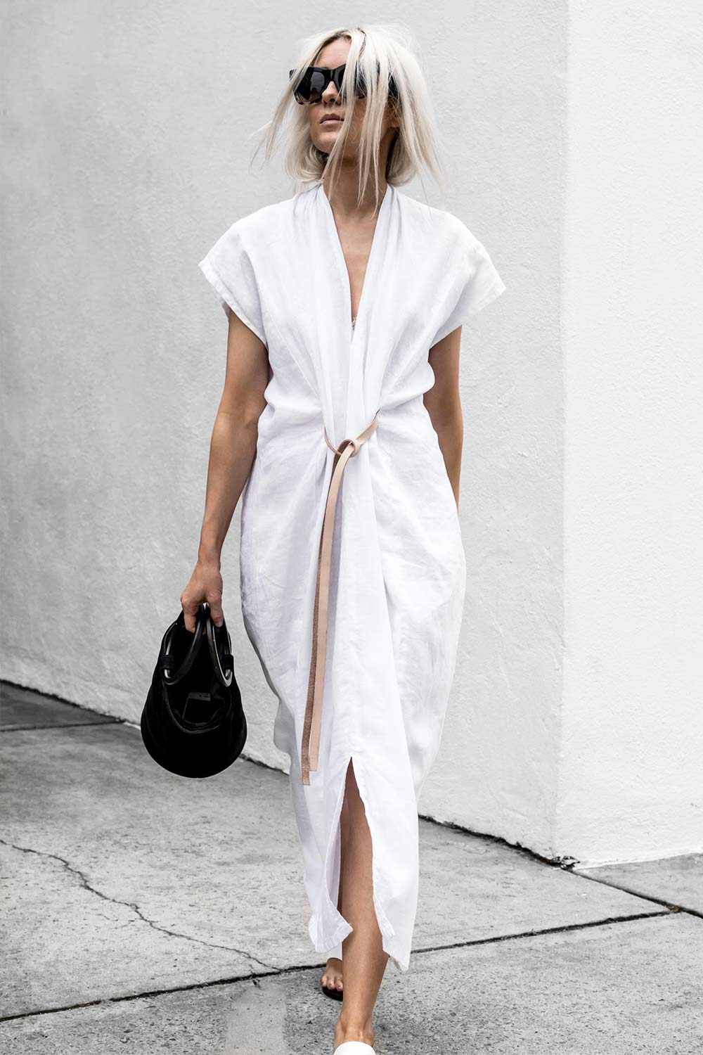 Knot Dress White