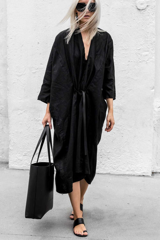 Primary New York Miranda Bennett Studio O'keeffe Dress Black