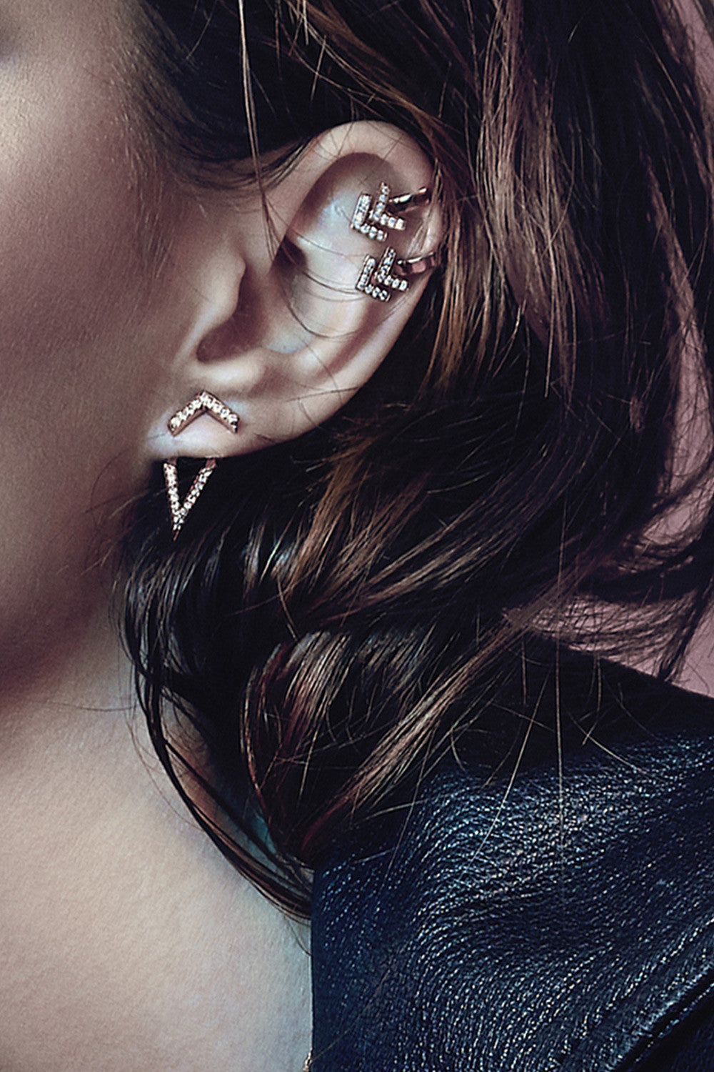 Primary X Carbon & Hyde Chevron Ear Cuff