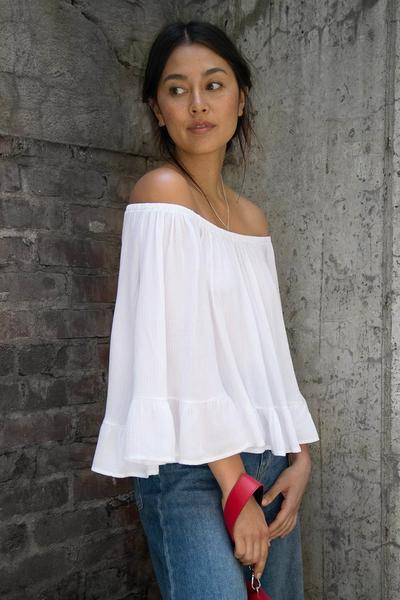 Off Shoulder Ruffle Top - 2 colors