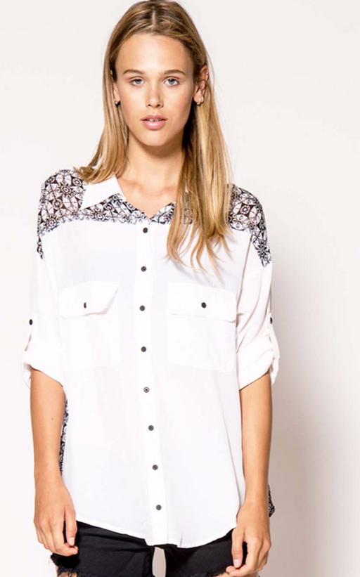 Silk Wingback Shirt - Primary New York