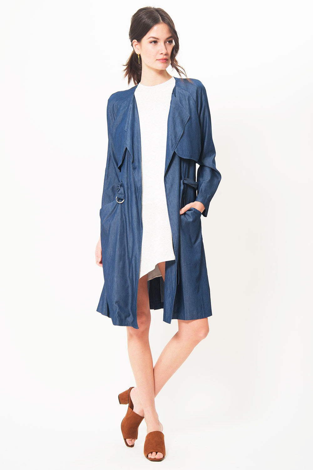 ASTR Denim Trench - Primary New York