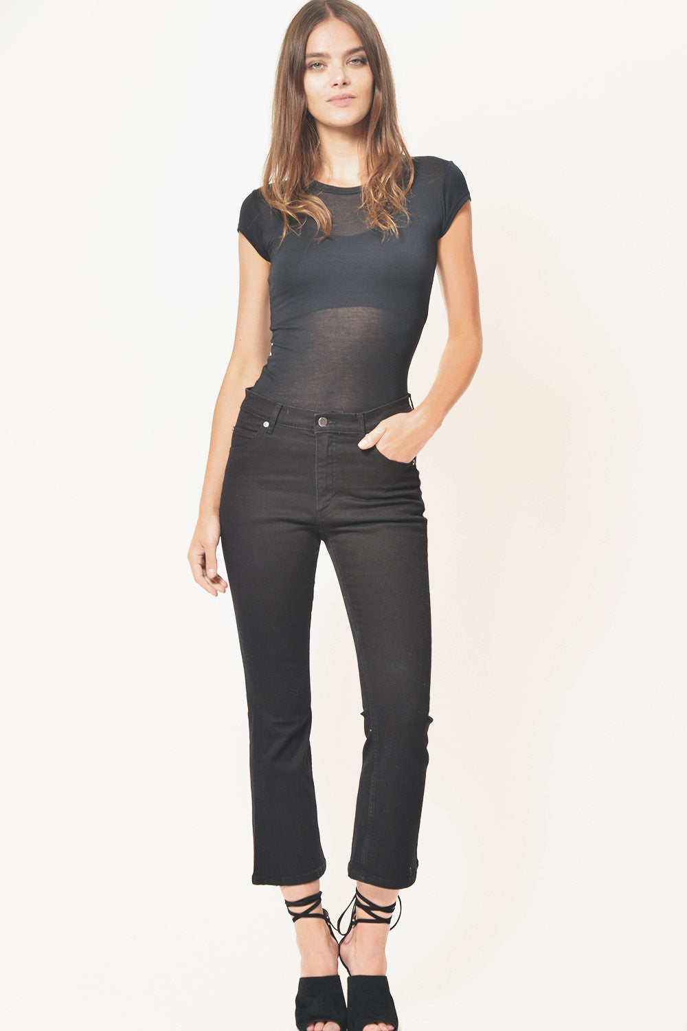 Cheap Monday Drift Crop Flare Jeans