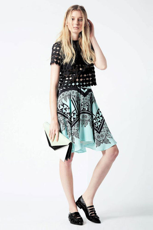 Circle Skirt Moro Print - Primary New York