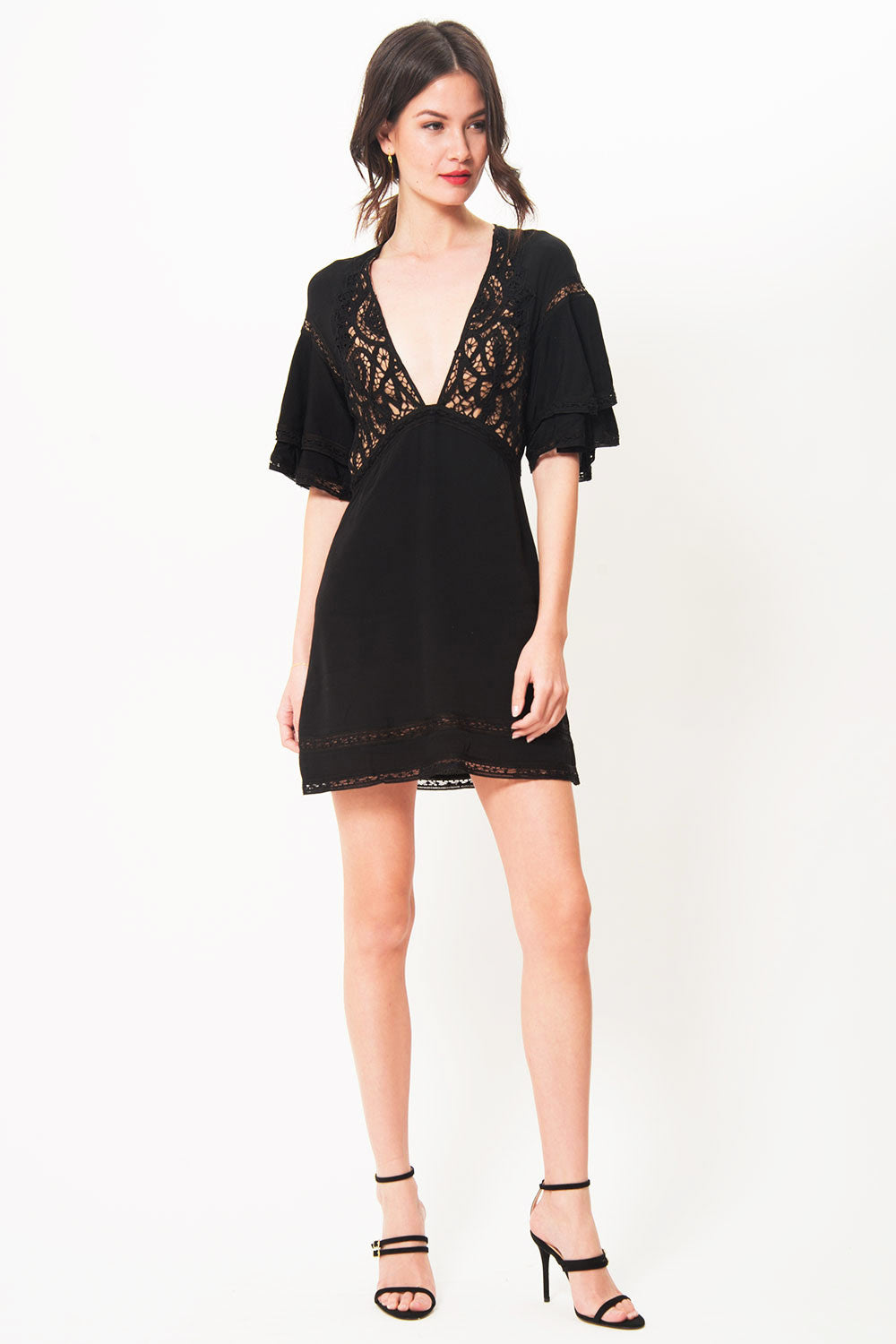 For Love and Lemons Carmine Mini Dress - Primary New York
