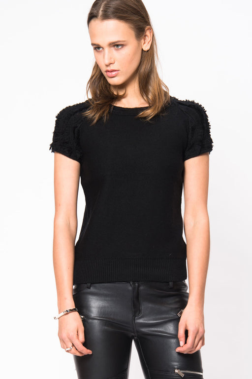 Fringe Sweater Tee - Primary New York