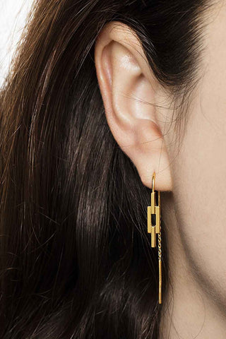 Maria Black Auro Chain Earring