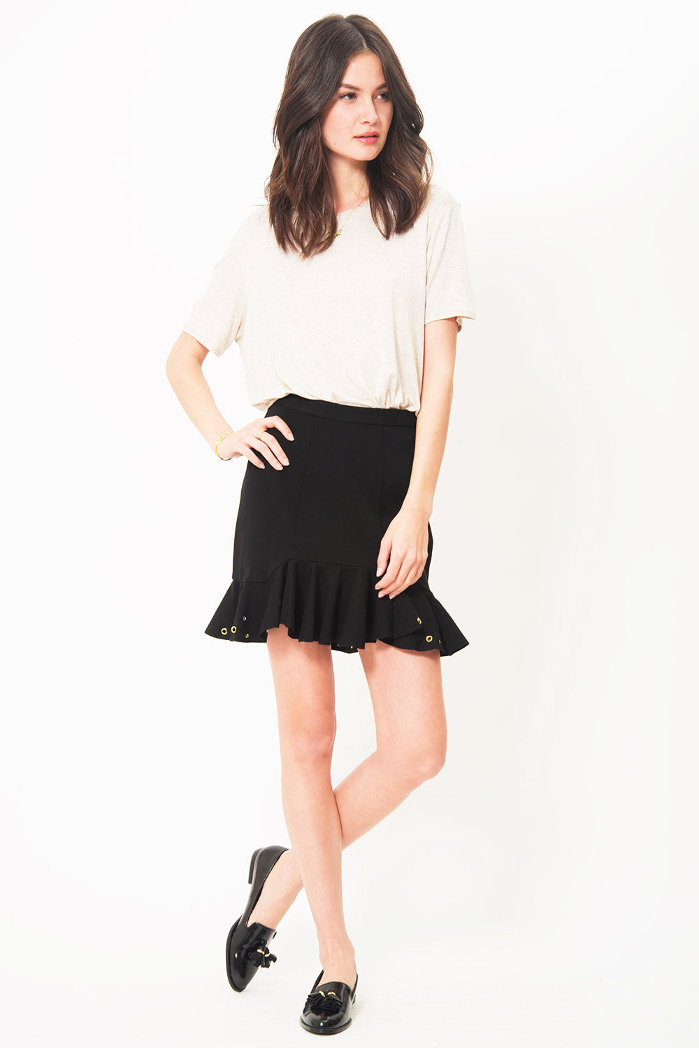 Primary Moet Gold Ponte Skirt // Limited Edition