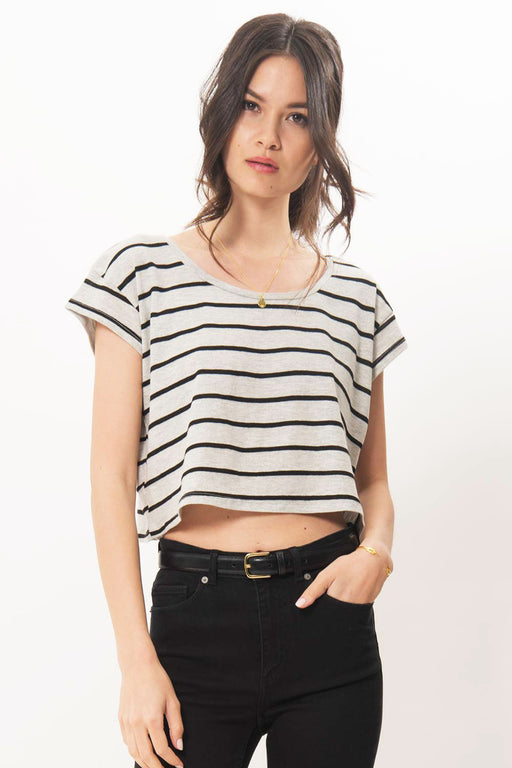 Primary Stripe Crop Tee