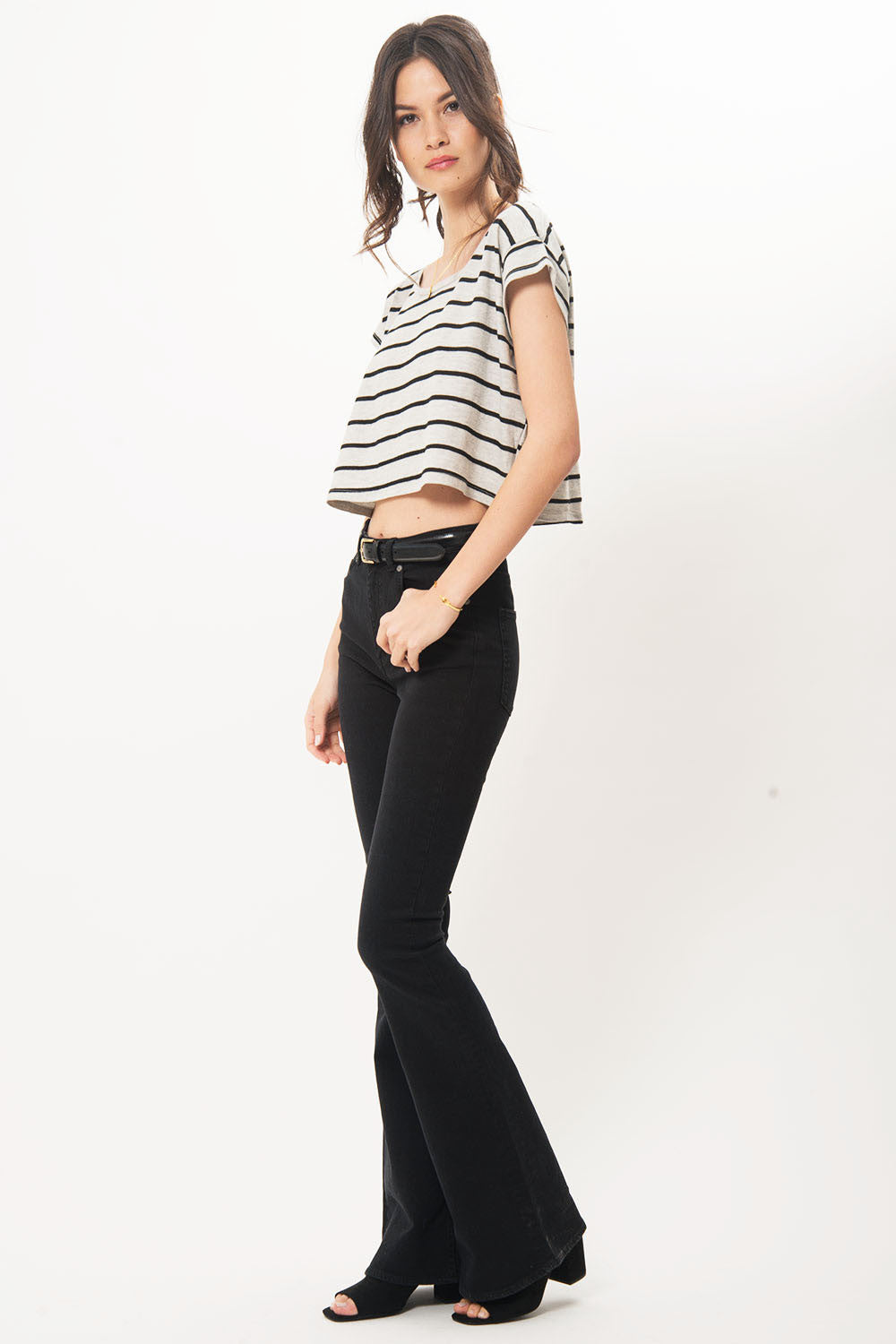 Stripe Crop Tee - Primary New York