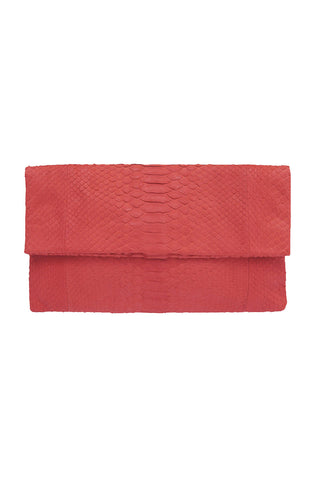Primary New York Prime Python Clutch Blood Orange