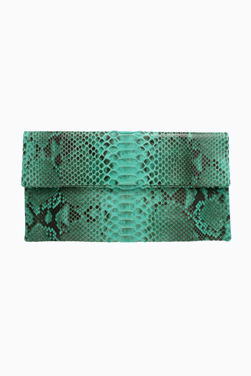 Primary New York Prime Python Clutch Aqua