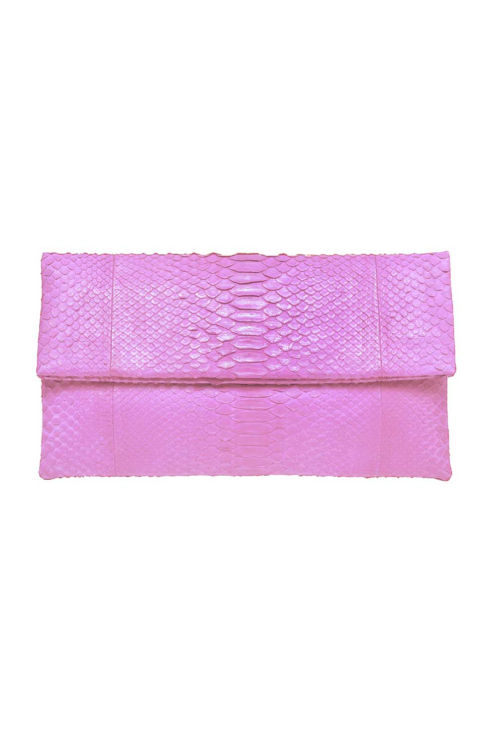 Primary New York Python Prime Clutch Soft Pink