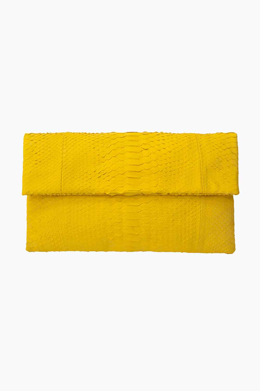 Primary New York Prime Python Clutch Yellow