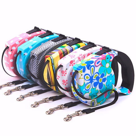 Retractable Extending Colorful Pet leashes