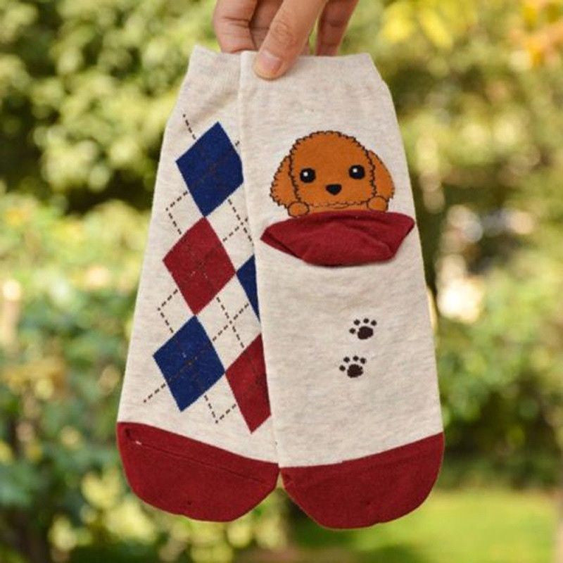 3D Puppy Printed Cotton Socks-Themed Gifts-Poodle-Pets Hub Home