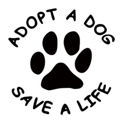 Adopt A Dog - Save A Life - Vinyl Decal Car Sticker-Themed Gifts-Pets Hub Home
