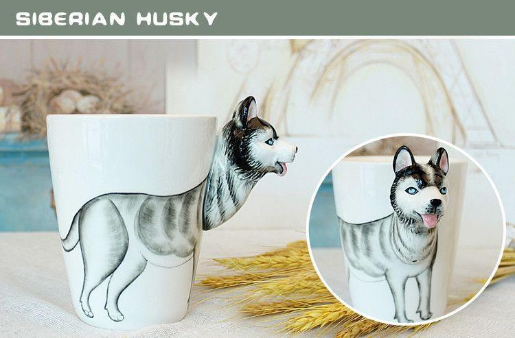 Ceramic Mug 3D Animal Shape Hand Painted-Themed Gifts-Pets Hub Home