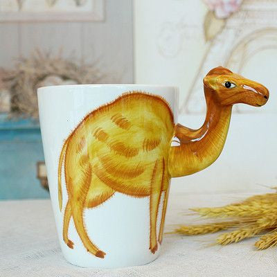Ceramic Mug 3D Animal Shape Hand Painted-Themed Gifts-Camel-400ml-Pets Hub Home