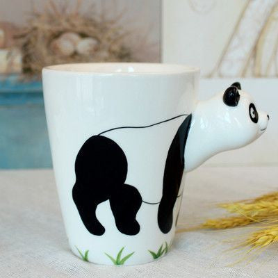 Ceramic Mug 3D Animal Shape Hand Painted-Themed Gifts-Panda-400ml-Pets Hub Home