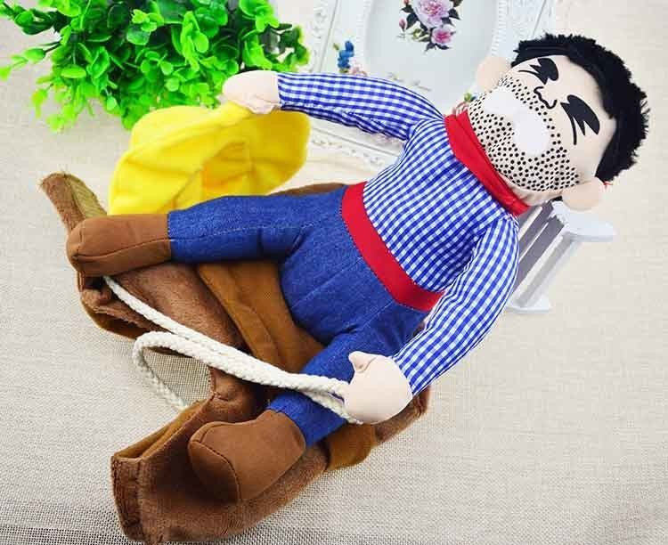 Cowboy Rider Dog Costume Suit-Toys-as show-L-Pets Hub Home